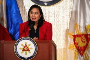 Vice President Leni Robredo addresses the nation