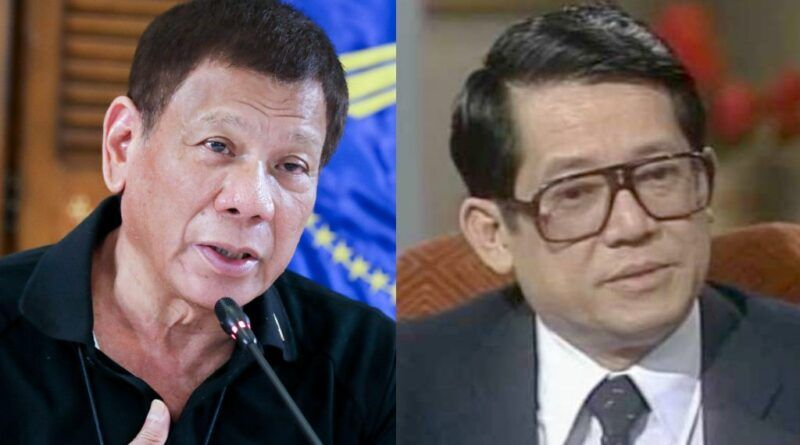 President Rodrigo Roa Duterte and Senator Benigno Ninoy Aquino