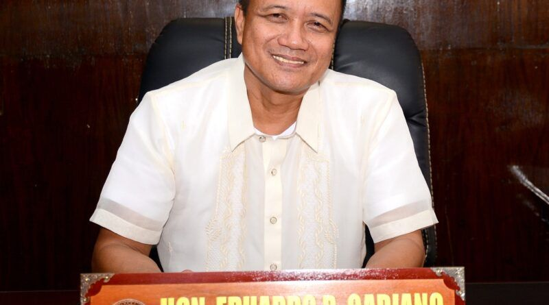 Occidental Mindoro Gov Eduardo Gadiano