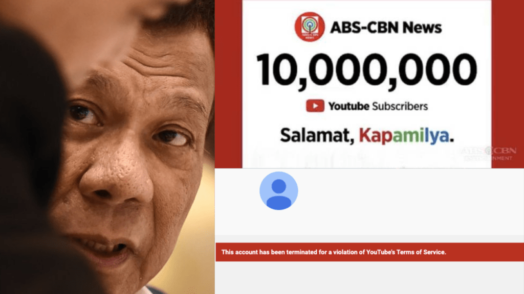 ABS-CBN News Youtube account is closed