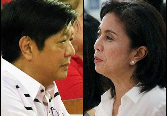 Bong Marcos and Leni Robredo