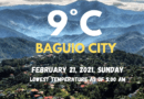 Lowest air temperature recorded for Amihan